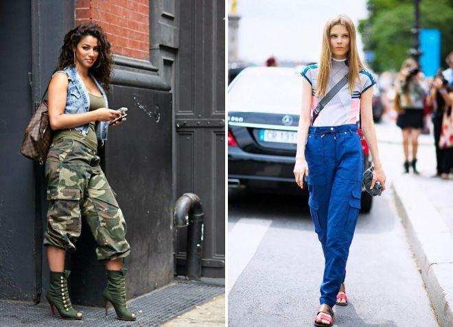с чем носить штаны милитари девушке