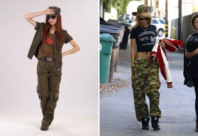 штаны милитари с карманами