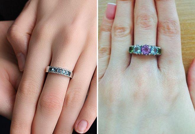кольцо дорожка с топазами