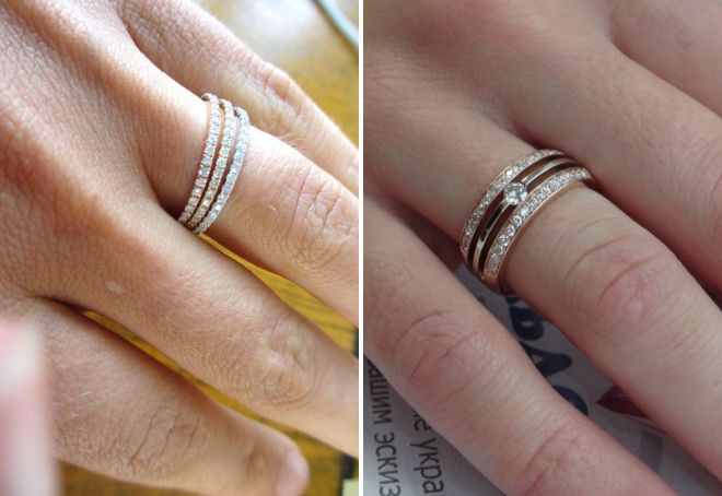 кольцо бриллиантовая дорожка