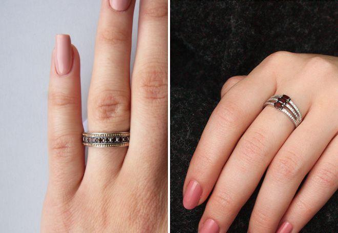 кольцо дорожка с камнями