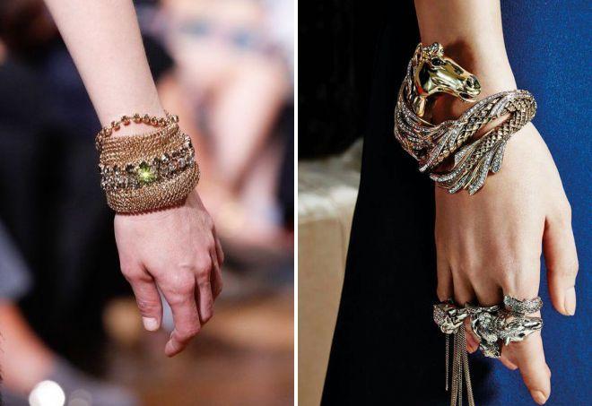 модные массивные браслеты
