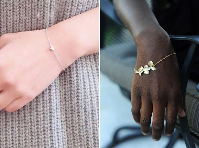 модные тонкие браслеты