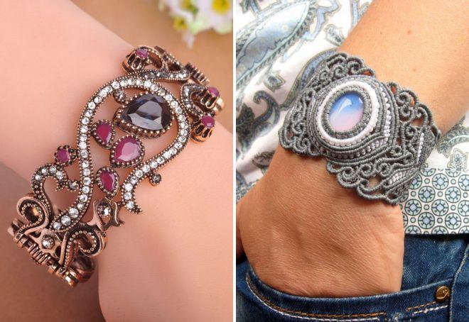 модные винтажные браслеты