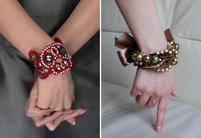 модные браслеты из бисера