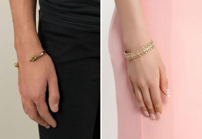 модные золотые браслеты