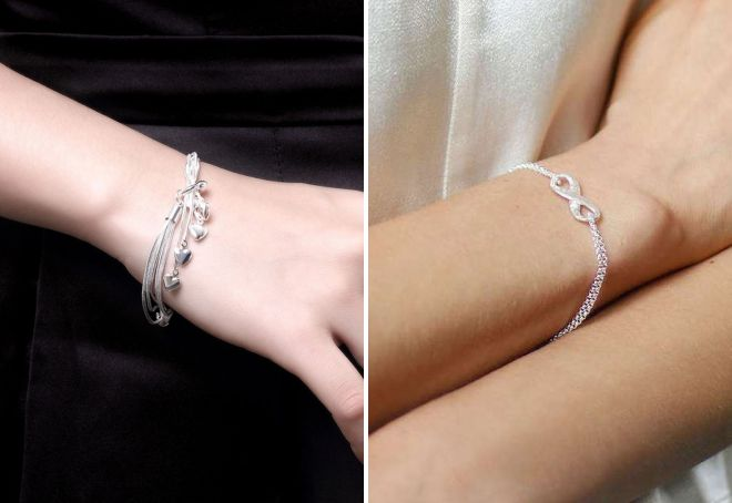 модные серебряные браслеты