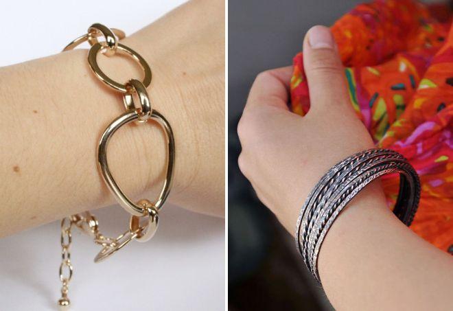 модные металлические браслеты