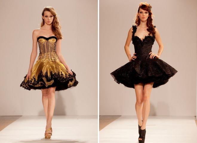 коктейльное платье с корсетом