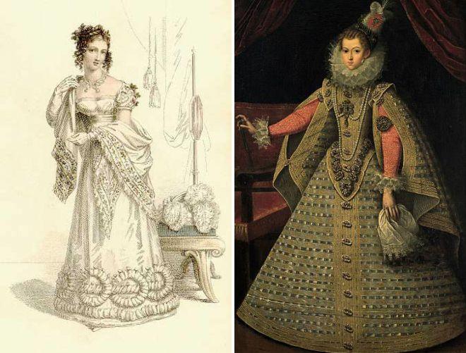 старинные платья с корсетом