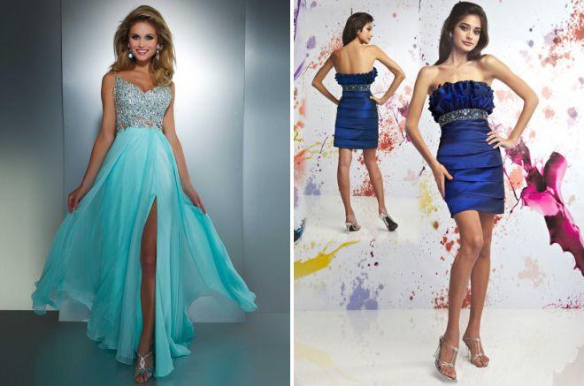 голубое платье с корсетом