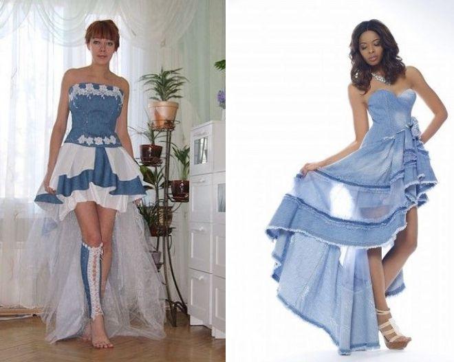 джинсовое платье с корсетом