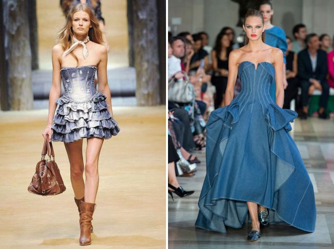 платье с джинсовым корсетом