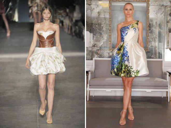 платье с корсетом и открытыми плечами