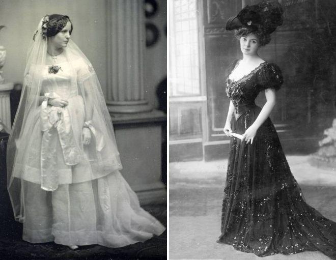 старинные платья с корсетом 20 век
