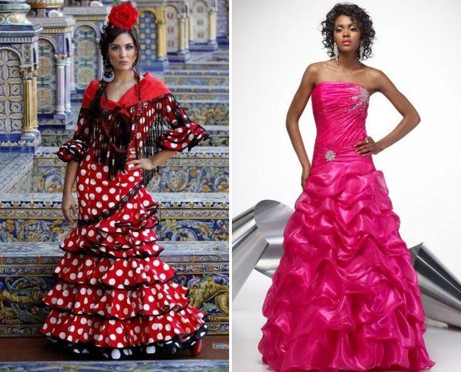 платье с корсетом и пышной юбкой