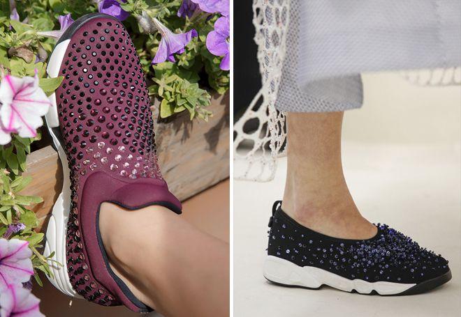 Модные женские блестящие кроссовки – с камнями и стразами, вставками ... 99b37b50691