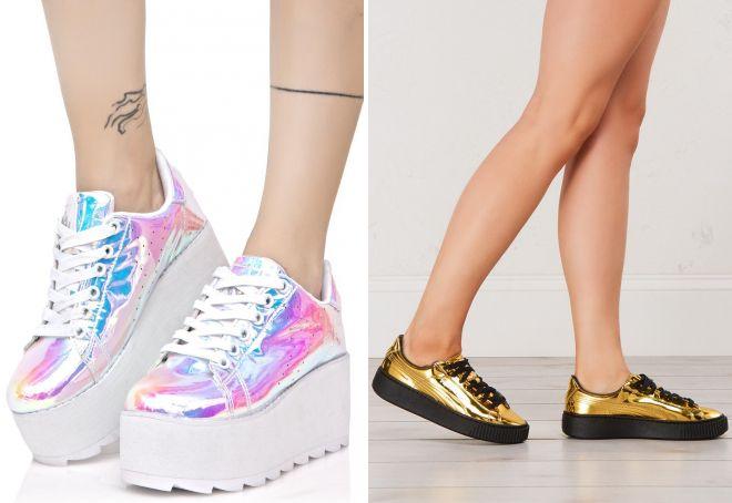ff16fb60 Модные женские кроссовки на платформе − черные, белые, розовые ...