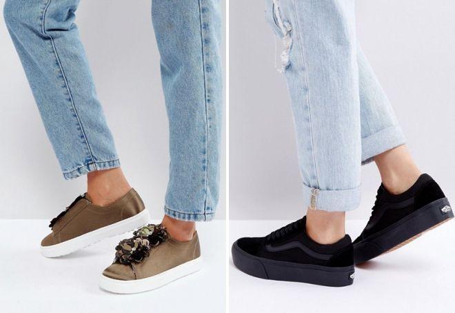 женские кроссовки адидас на платформе