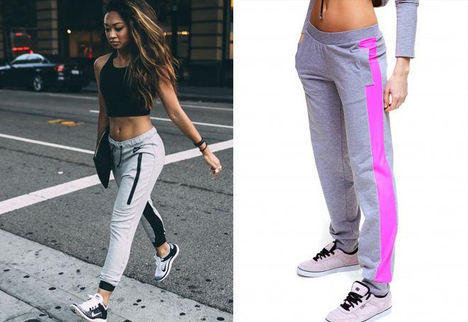 6448bc26 Женские серые брюки – классические, узкие, широкие, спортивные, для ...