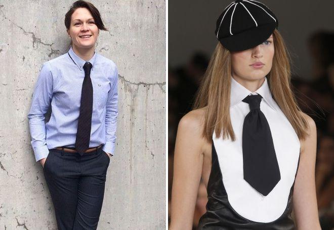 طول کراوات زن