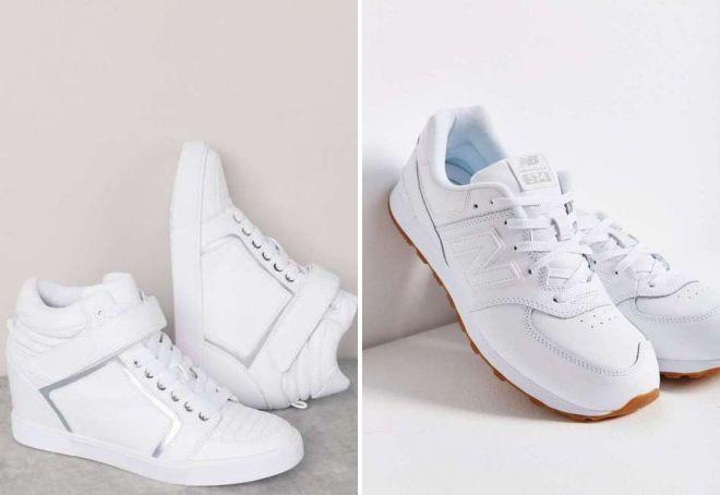 модные белые кроссовки