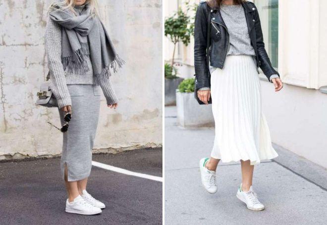 модные женские белые кроссовки