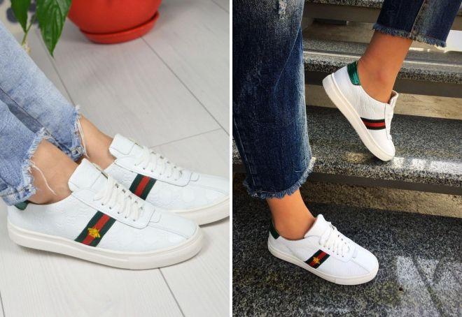 белые кроссовки гуччи