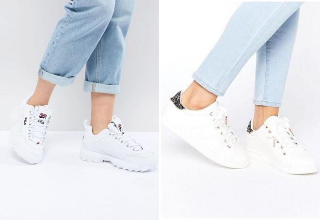белые кроссовки 2018