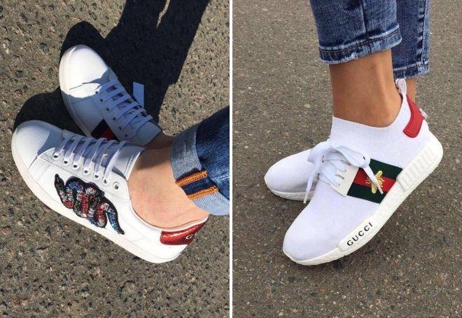 белые кроссовки guicci