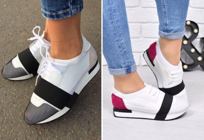 белые кроссовки баленсиага