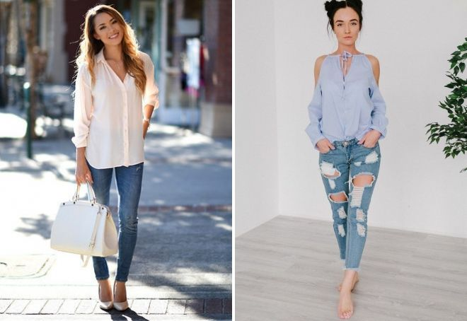 модные образы с блузкой