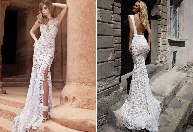 ажурные свадебные платья
