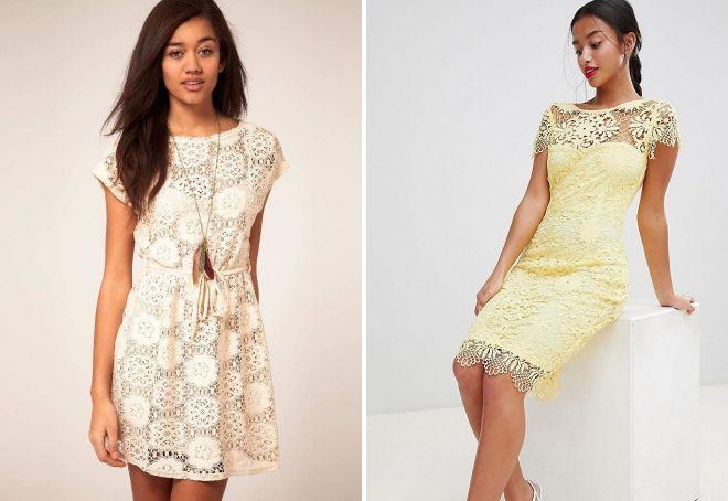 красивые ажурные платья
