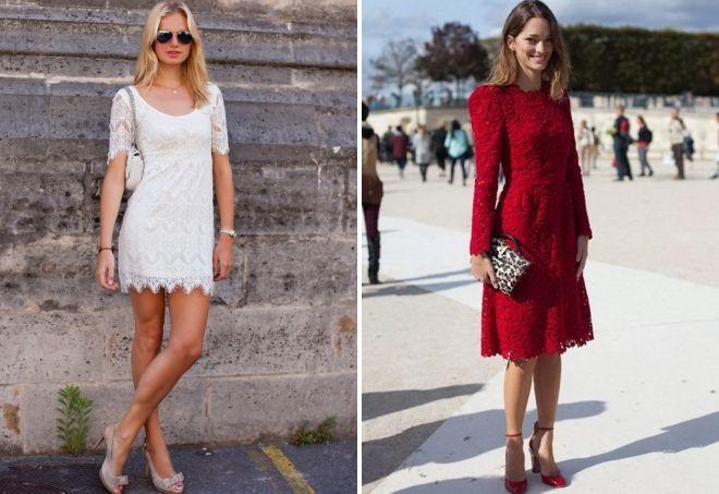с чем носить ажурное платье