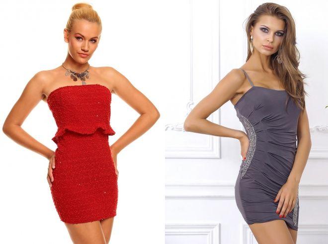 коктейльные мини платья