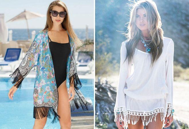 пляжное платье с бахромой
