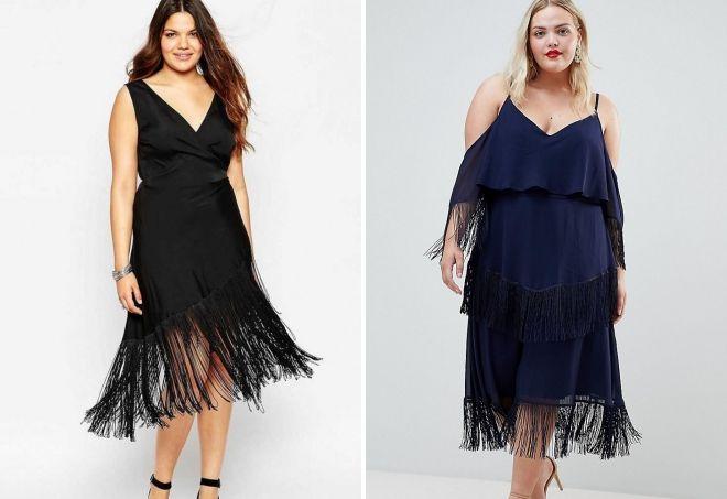 платья с бахромой 2018 2019