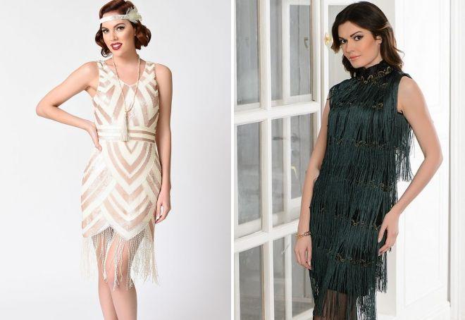 платье с бахромой в стиле Чикаго
