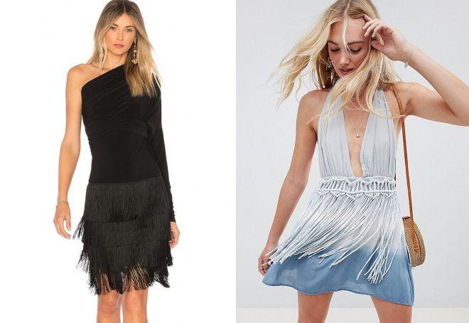 платье трансформер с бахромой