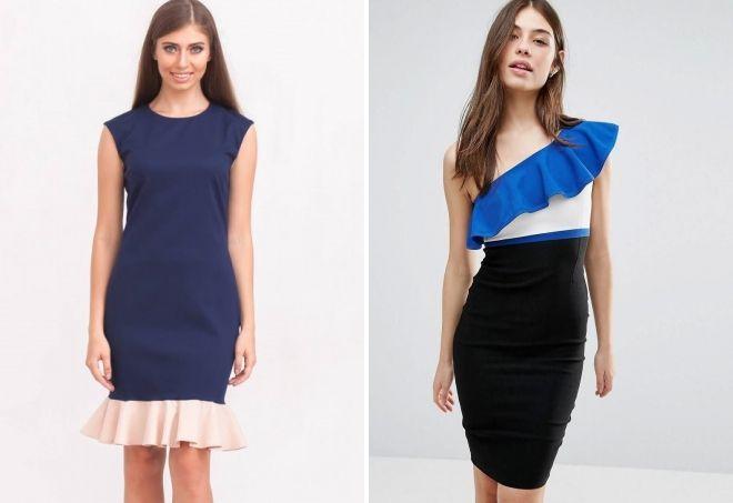 модные платья с воланами 2018 2019