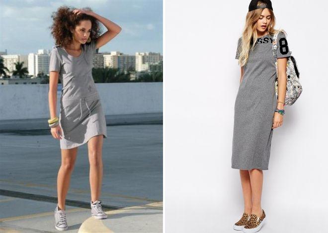 quoi porter avec une robe de sport grise