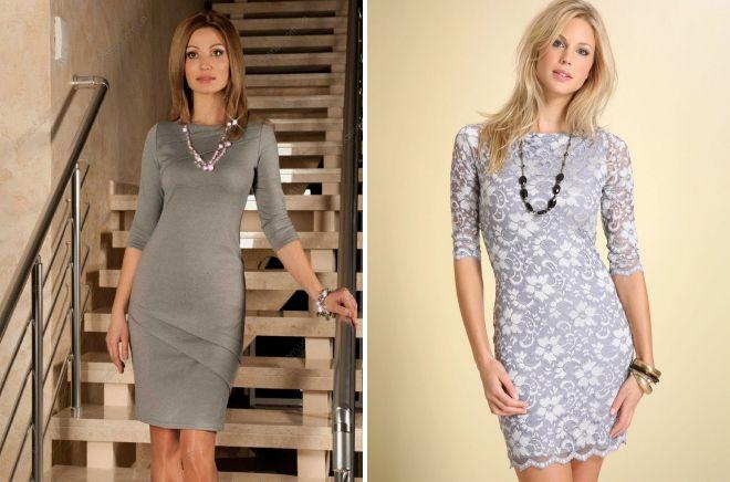 décorations à la robe grise