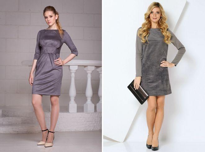 quoi porter avec une robe en daim grise