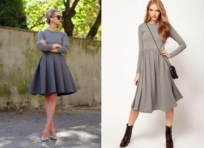 quoi porter avec une robe évasée grise