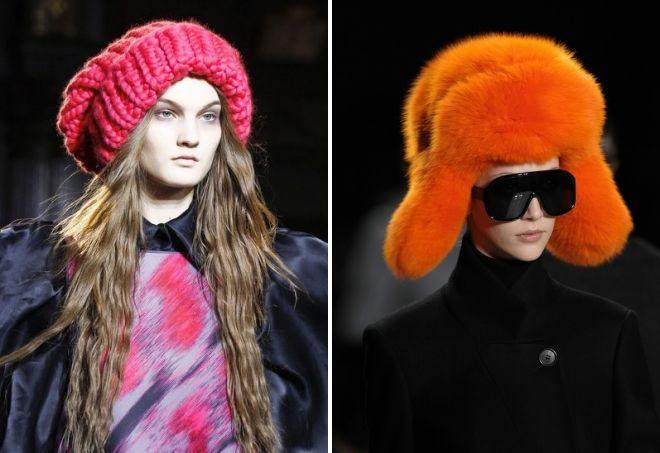 женские объемные шапки