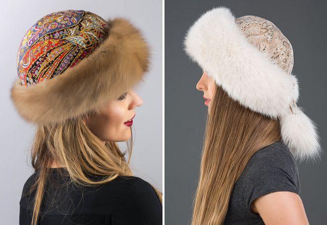 женские виды шапок и их названия