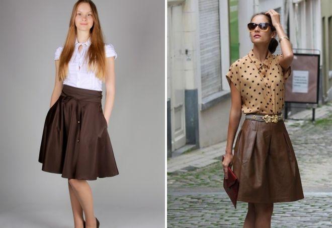 brun nederdel sol