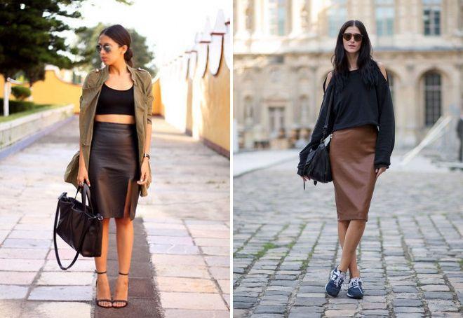 hvad skal man have med en brun midi nederdel