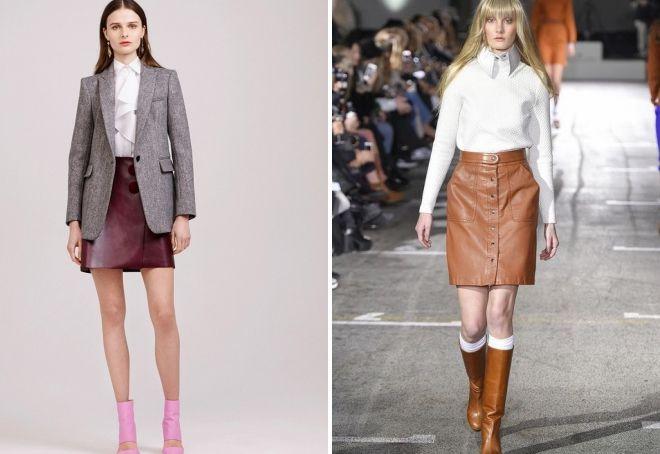 hvad skal man have med en kort brun nederdel